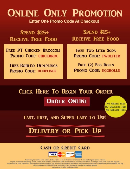 Order Chinese Food Online
